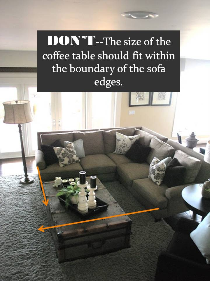 via. Create a comfortable arrangement between the sofa and the coffee table ... & Design Guide: How to Style a Sectional Sofa | ConfettiStyle