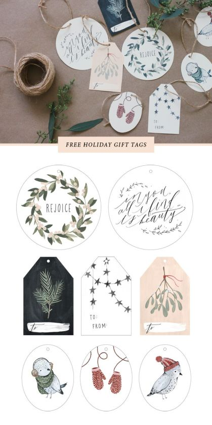 Kelli Murray   FREE PRINTABLE 2013 HOLIDAY GIFT TAGS