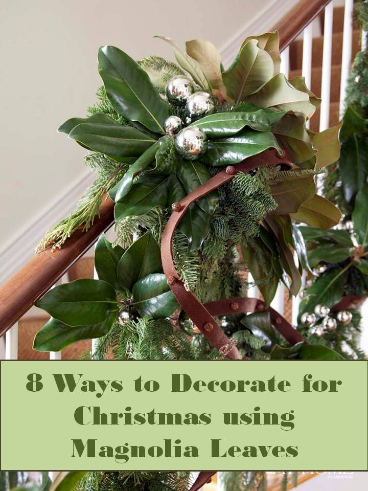 Decorating with Magnolia Leaves During the Holidays   ConfettiStyle One of the easiest and least expensive  totally free  ways you can UpStyle  your holiday decor is with magnolia leaves
