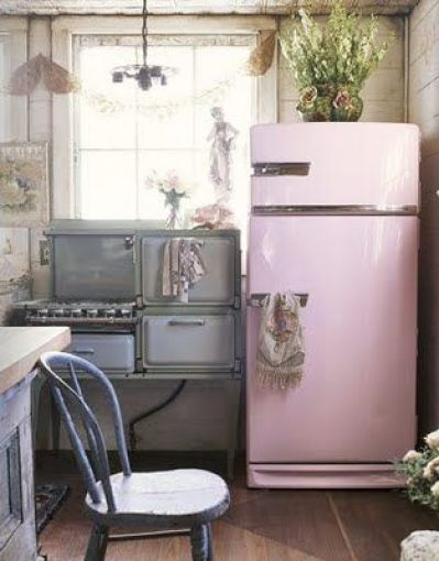Spray Painted Refrigerator