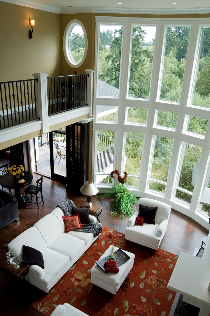 Window treatments for tall windows tips inspiration - Living room picture window treatments ...