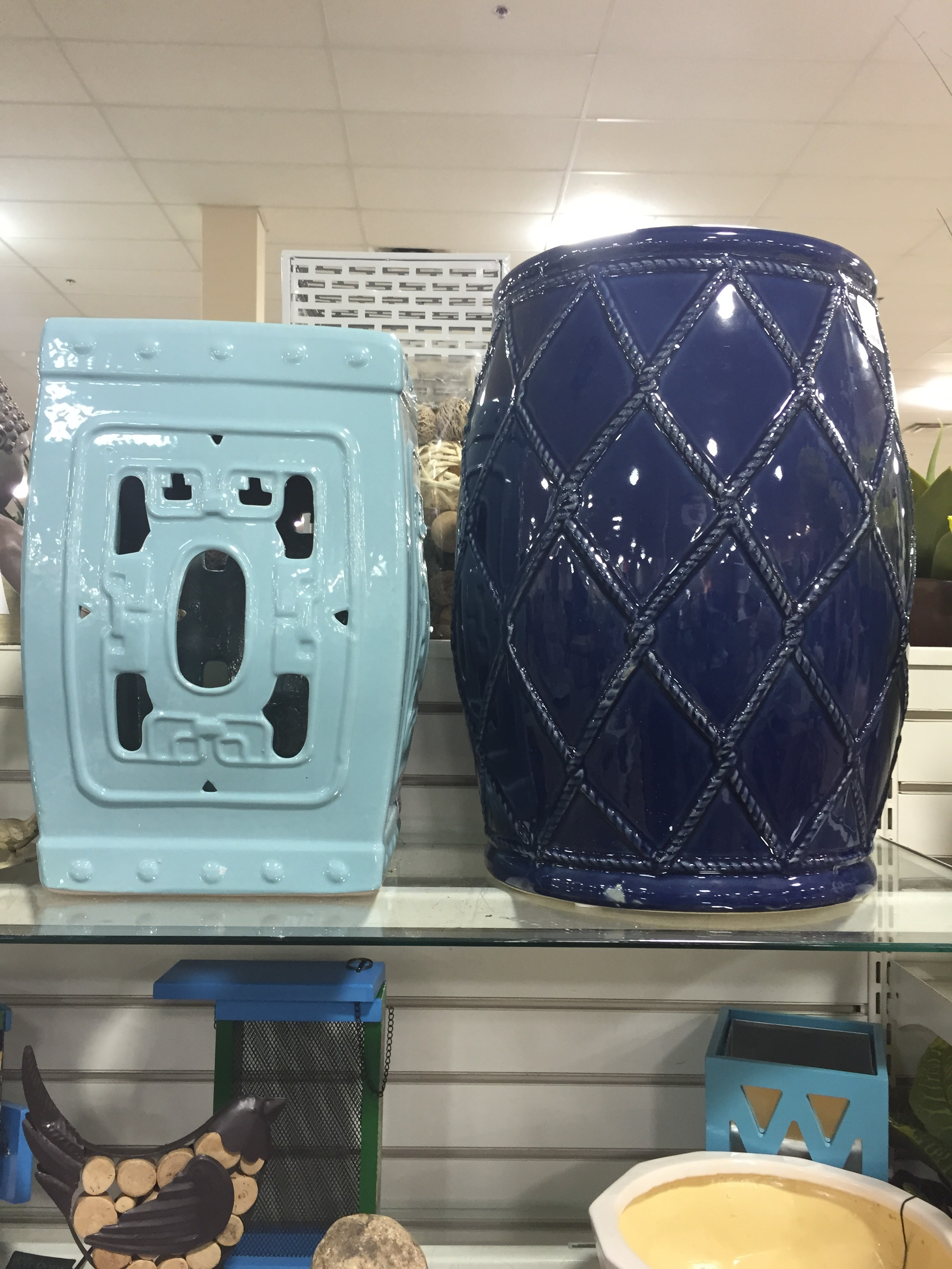 Charmant Spring Is Garden Stool Season At HomeGoods And They Continue To Bring In  Updated Styles In Great Colors. Blue Is Definitely A Trending Color For  Spring And ...