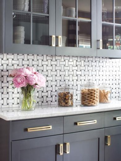 Basket Weave Tile in Kitchen
