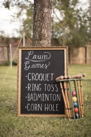 Garden Party Lawn Games Sign
