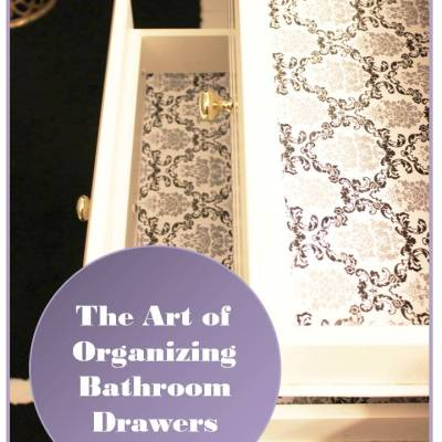 The Art Of DeCluttering (and organizing) Bathroom Drawers