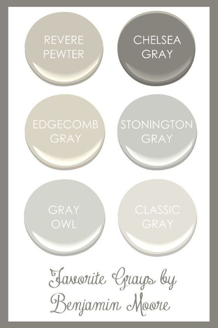GREY PAINT COLORS via HomeBunch