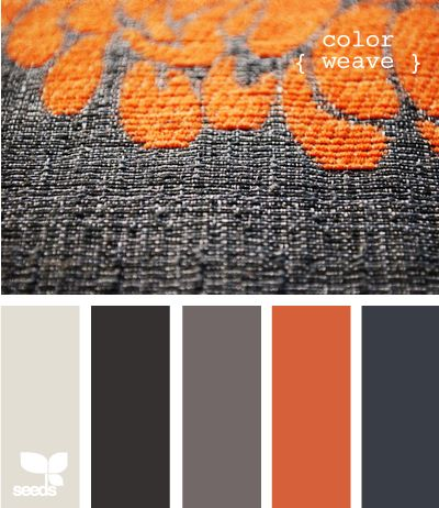 Orange and Grey via Design-Seeds