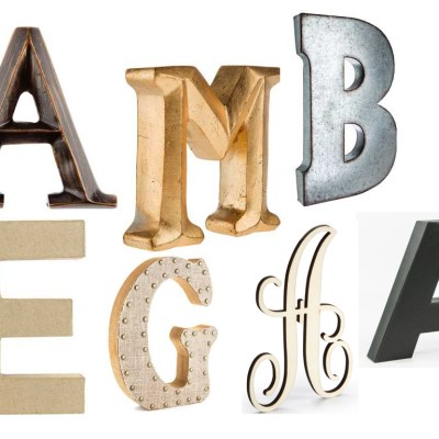 Product + Inspiration:  Typography Letters