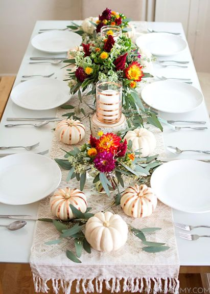 Thanksgiving Table via Homey Oh My