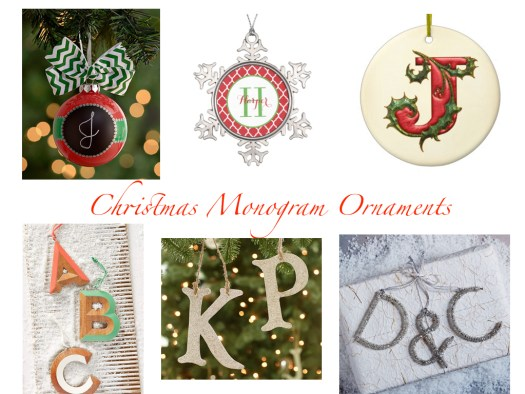 Monogram Christmas Ornaments.001