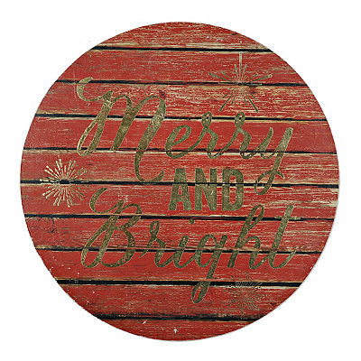 Rd Merry and Bright Plaque