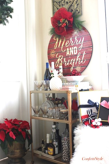 Holiday Barcart by ConfettiStyle