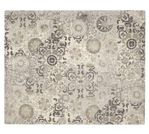 Talia Printed Rug--Gray--Pottery Barn