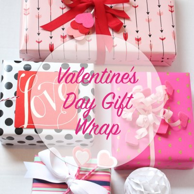 Gift Wrap Inspiration:  Valentine's Day Hearts & Arrows