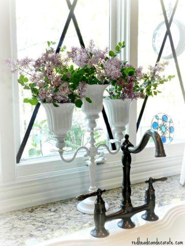 Candlelabra Flower Vase