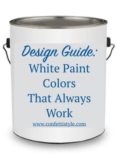 Design Guides--Favorite White Paint Colors