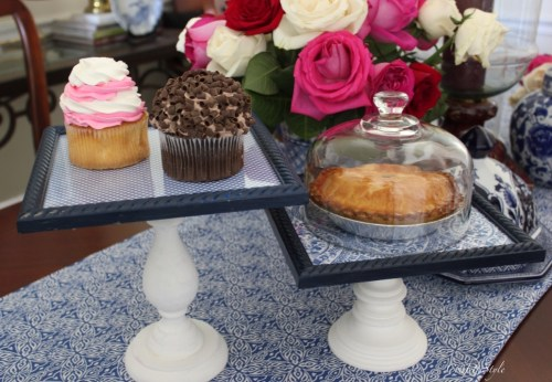 Swap It Like It's Hot--Picture Frames Turned Cake Stands by ConfettiStyle