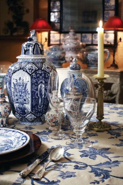 Blue Tablescape via Stylebeat