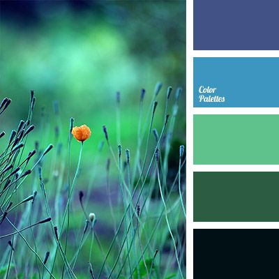 Blue and Green Color Palette