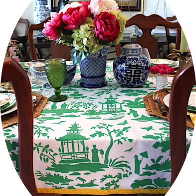 DIY Toile Tablecloth (and a Giveaway)