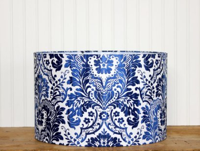 Damask Blue and White Lampshade