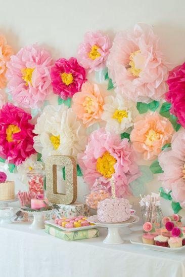 Paper Flower Party Decor