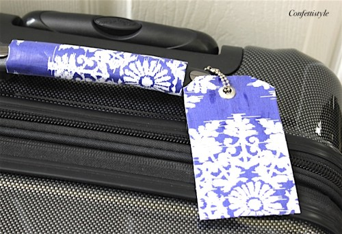 DIY Luggage Tags and Handle Wraps