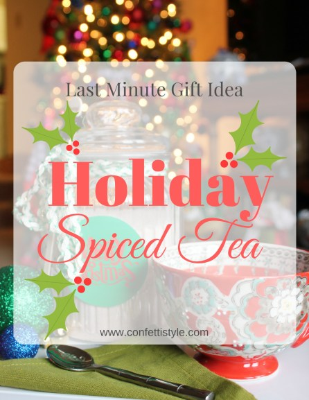 Holiday Spiced Tea Recipe by ConfettiStyle