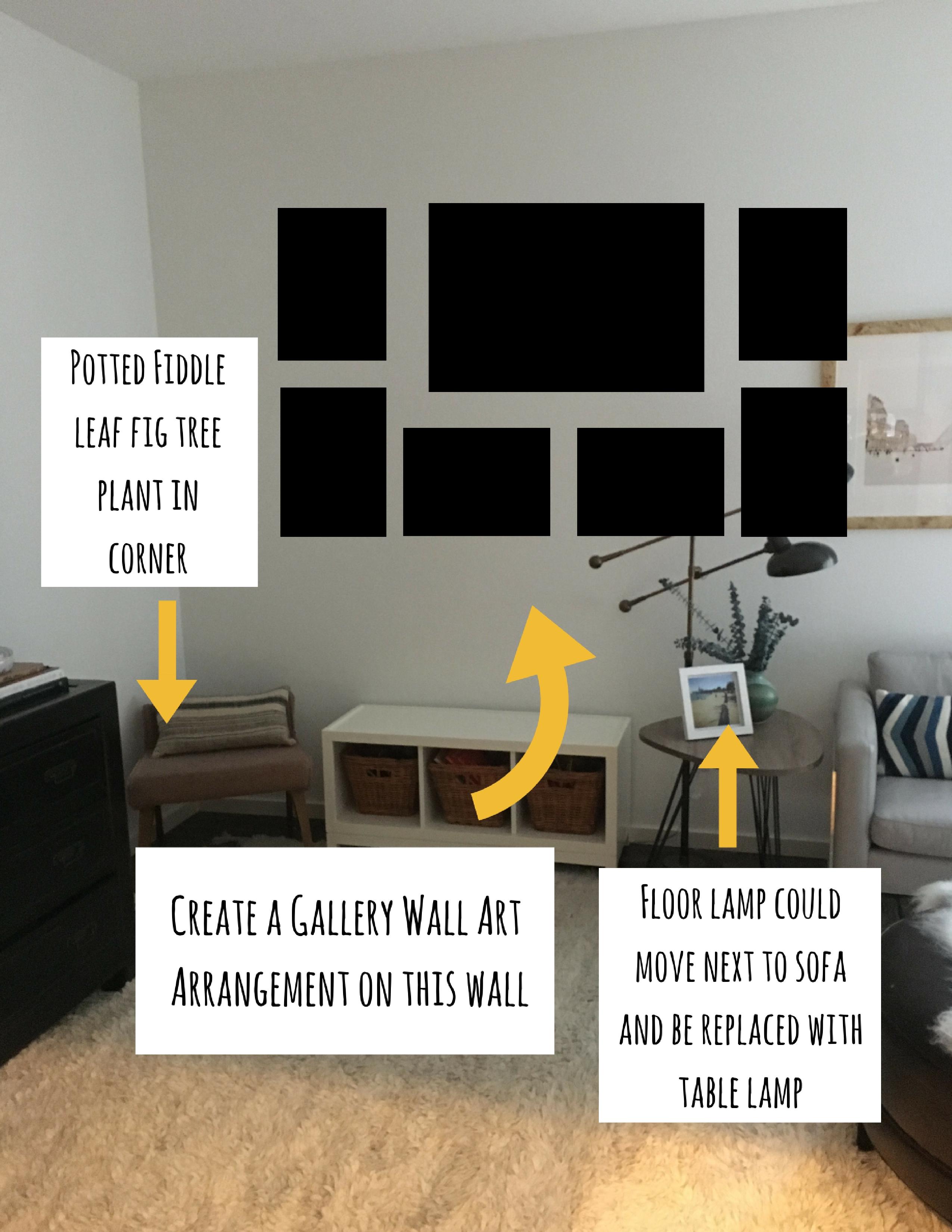 Arranging photos on a wall - Design Chat Arranging Artwork