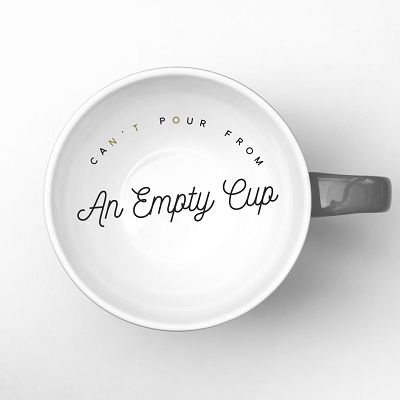 Image result for you can't pour from an empty cup