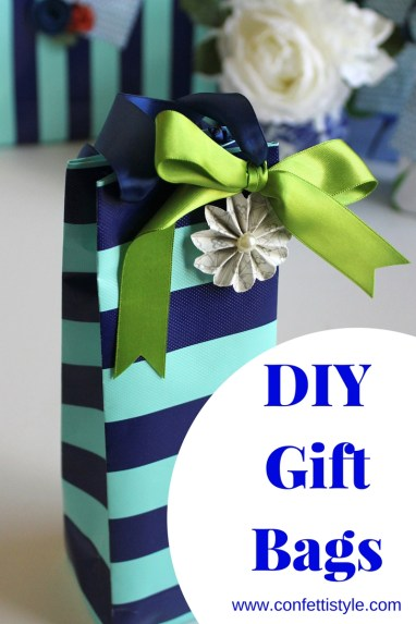 DIY Gift Bags Using Wrapping Paper by ConfettiStyle