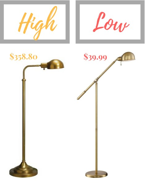 Brass Pharmacy Lamps--High/Low Mix