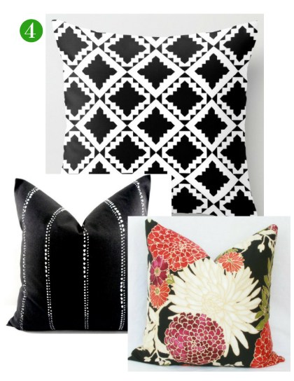 Black and White Pillow Pairings by ConfettiStyle