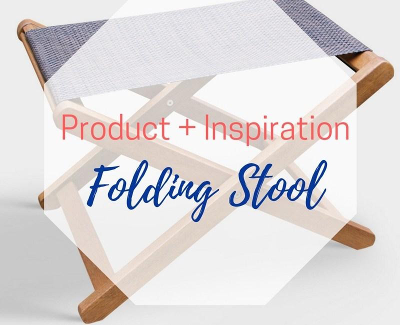 Product + Inspiration: Sling Ottoman {aka: folding stool}