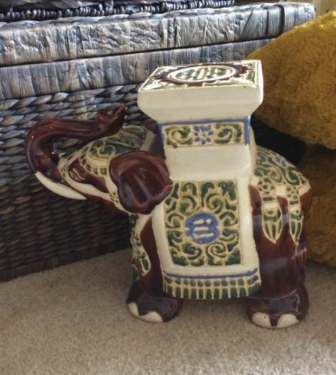 Vintage Elephant Stool