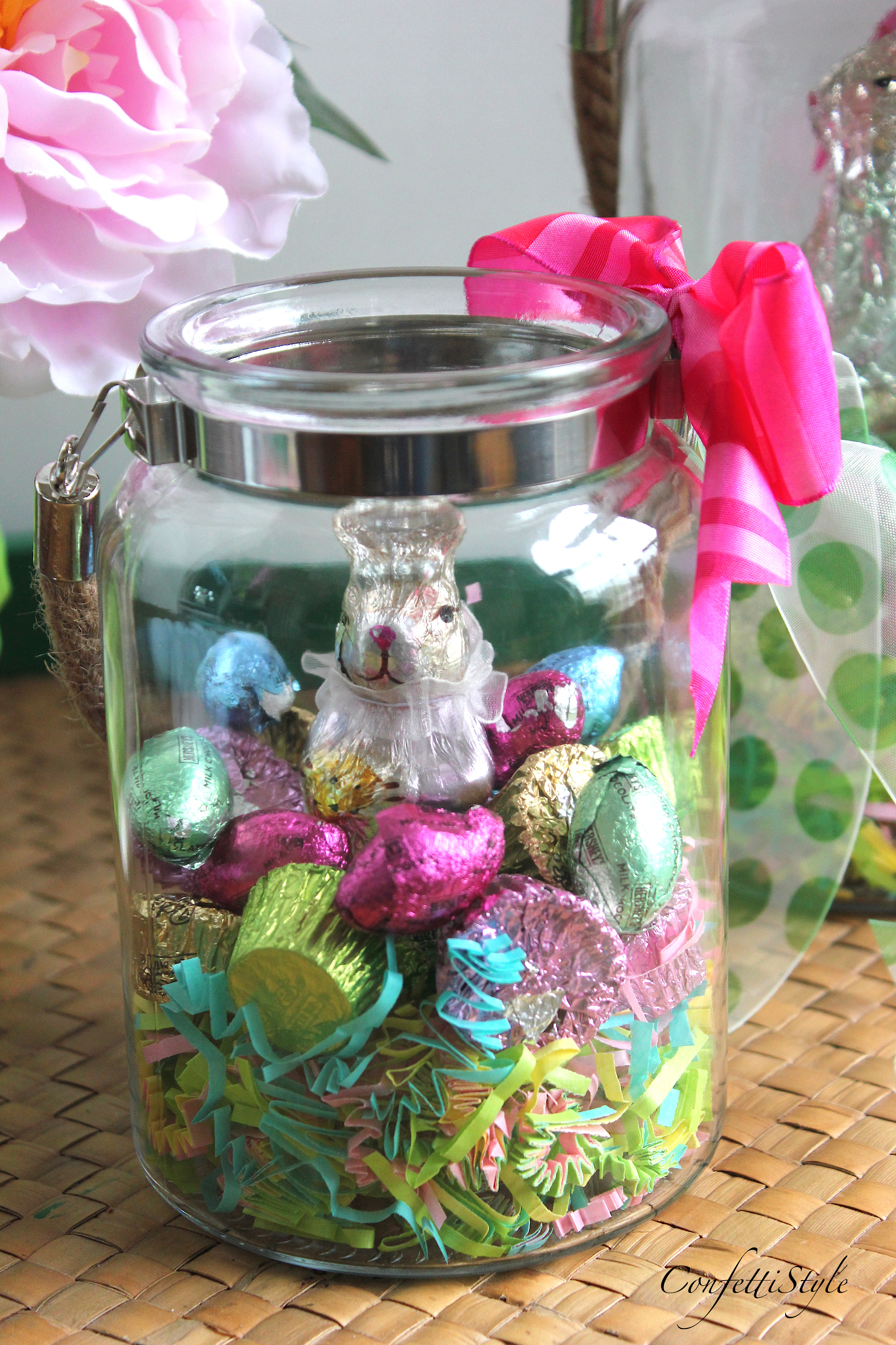 Diy easter candy jars easter gift idea confettistyle diy easter candy jar by confettistyle negle Gallery