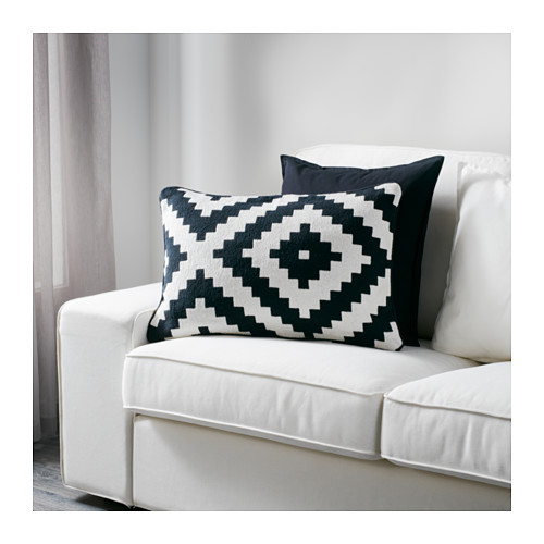 Ikea Black and White Pillow
