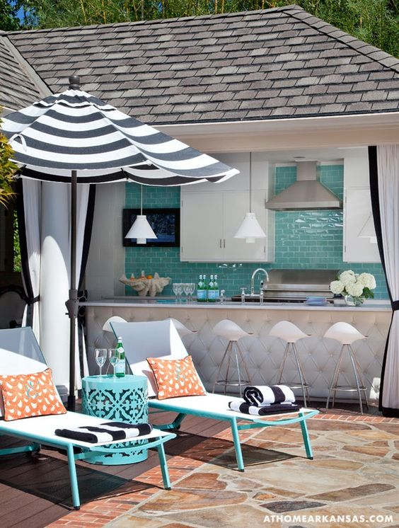 Perfect If You Love A Colorful Outdoor Space, Black And White Is The Perfect  Companion To Add Impact But Not Take Away From Your Color Statement.