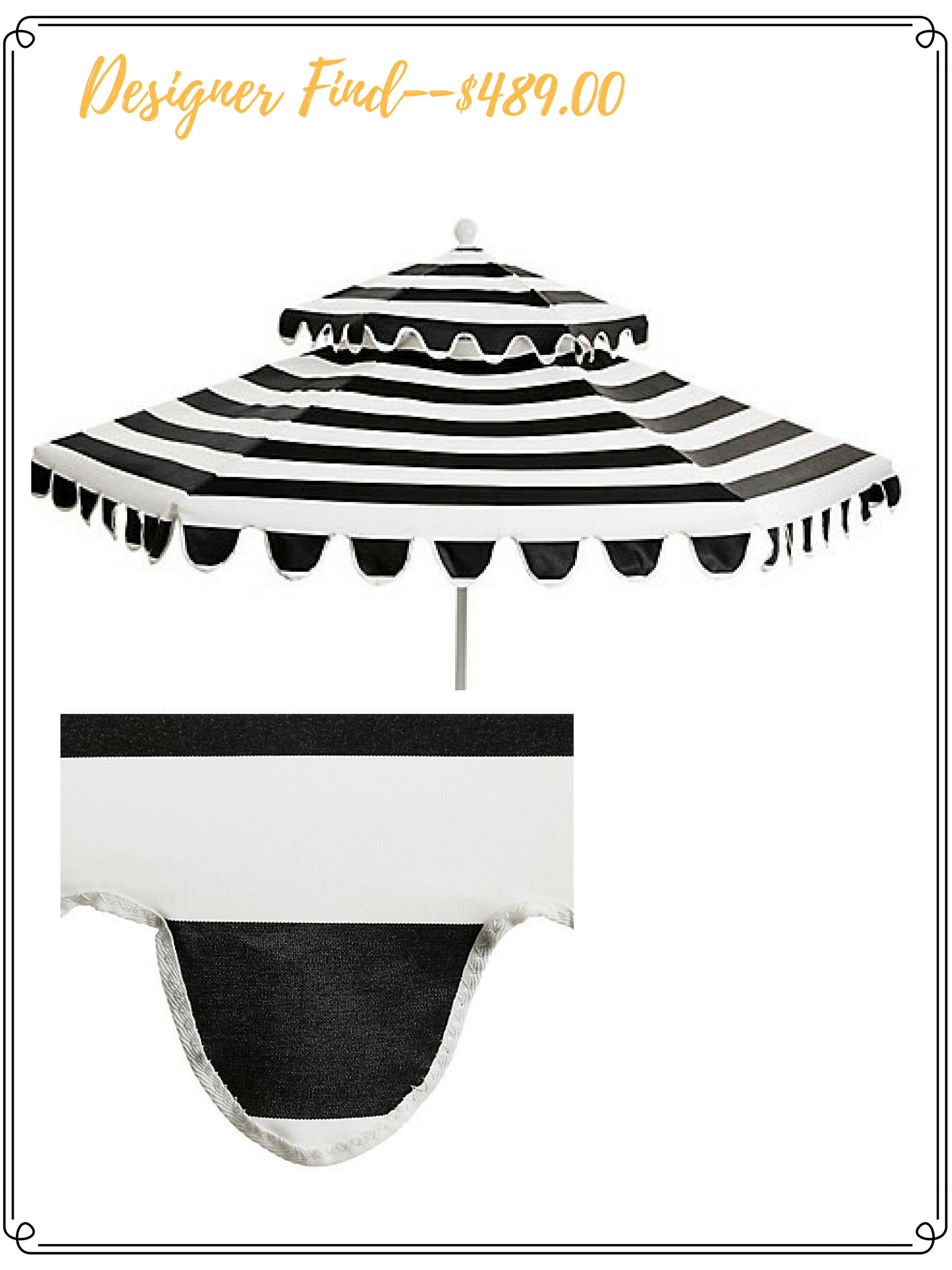 HIGH LOW OPTIONS Black & White Outdoor Umbrella