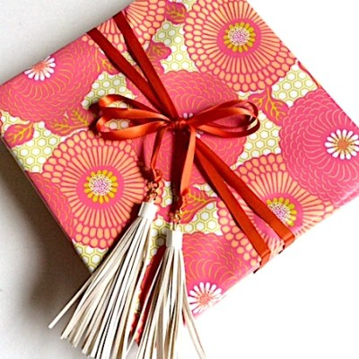 Gift Wrap Inspiration:  Tassel Ribbon Tie