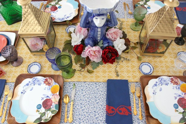 Bohemian Inspired Spring Tablescape by ConfettiStyle