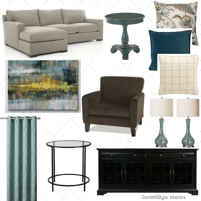 Design Cha with ConfettiStyle: Family Room Refresh featuring a Sectional Sofa