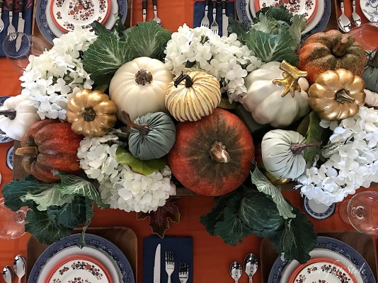 Fall Tablescape Decor by ConfettiStyle
