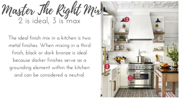 Design Guide: Mixing Metals In The Kitchen by ConfettiStyle