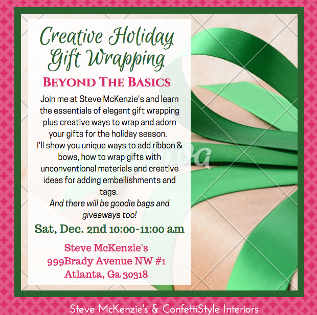 Holiday Gift Wrapping Workshop with ConfettiStyle