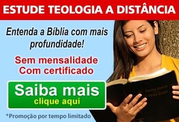 informações sobre o curso de formação em Teologia