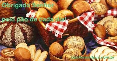 obrigado senhor pelo pão de cada dia