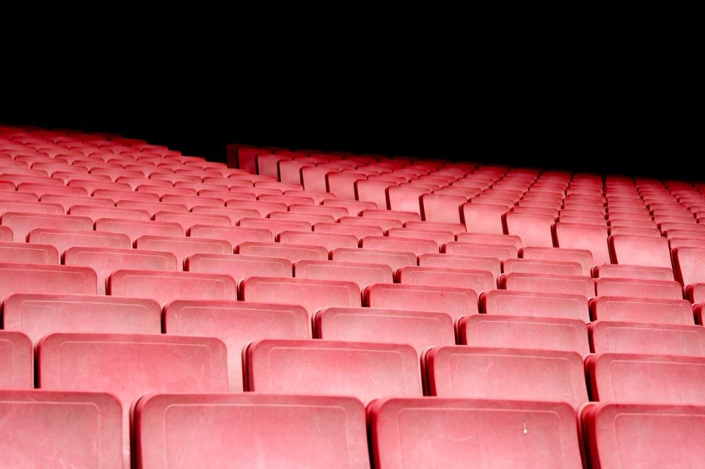 Empty seats to represent knowing your audience