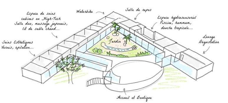 Découvrez mon avis sur le spa de luxe des Jardins d'Auréane avec sa structure fascinante
