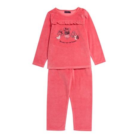 14H5PFQ2PYJ_E402_Pyjama_rose_mandarine_en_velours_eponge_fille-2-7-ans_S...
